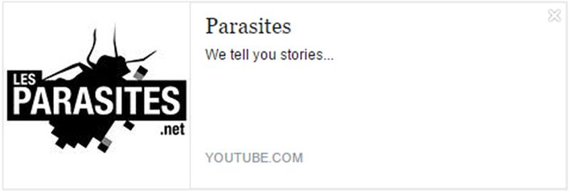 eleutheria.blog4ever.netLes Parasites meilleur chaine youtube.png