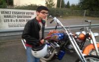 Jordan petit motard handicapé