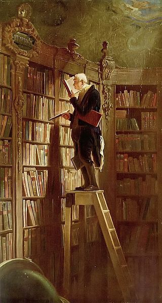 Le Rat de bibliothèque par Carl Spitzweg vers 1850.jpg