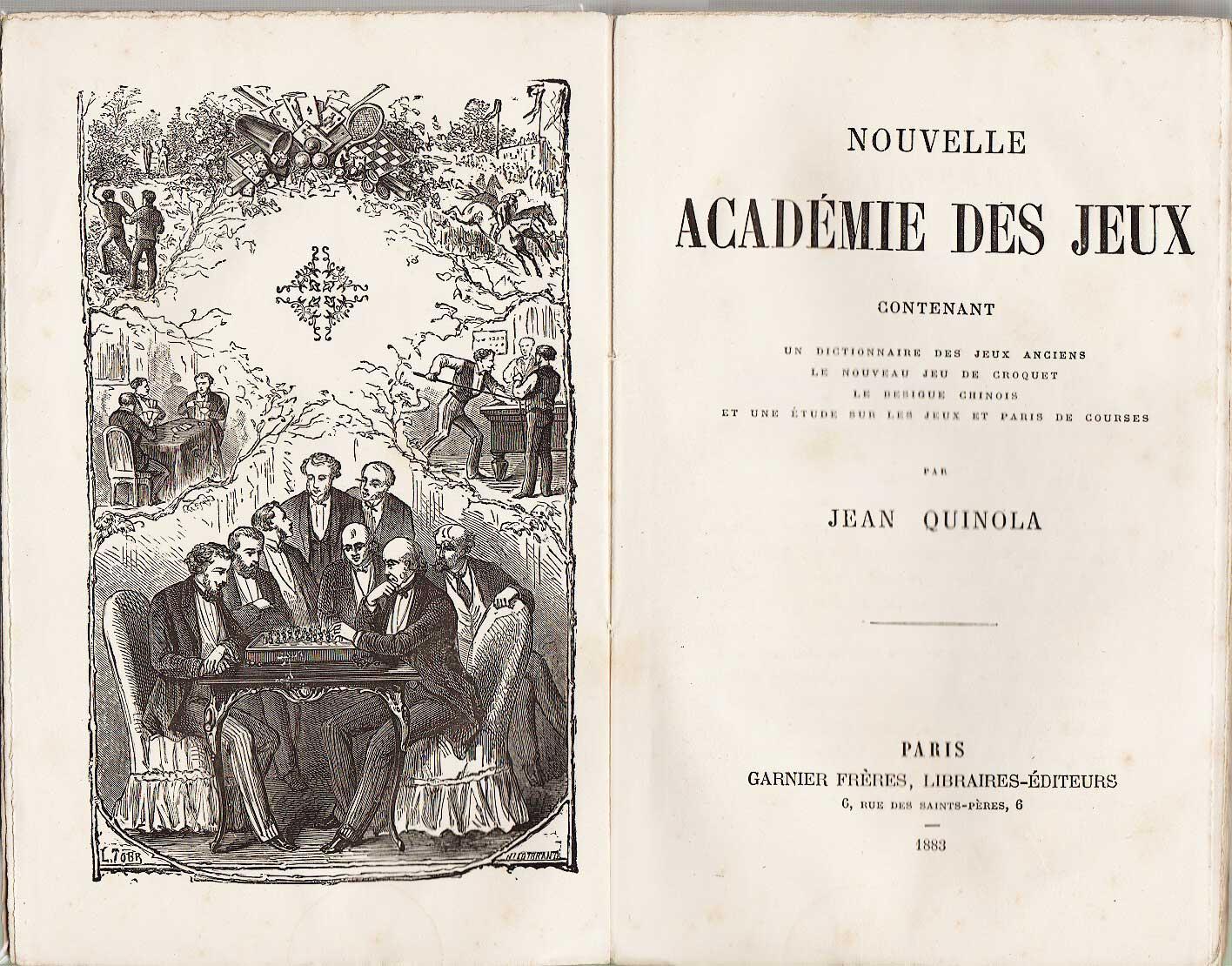 1883 j quinola nouvelle academie des jeux xix - Course de chevaux table de multiplication ...