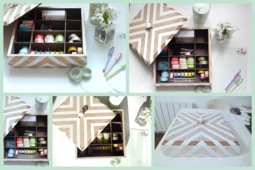 DIY une jolie boite pour organiser son bureau