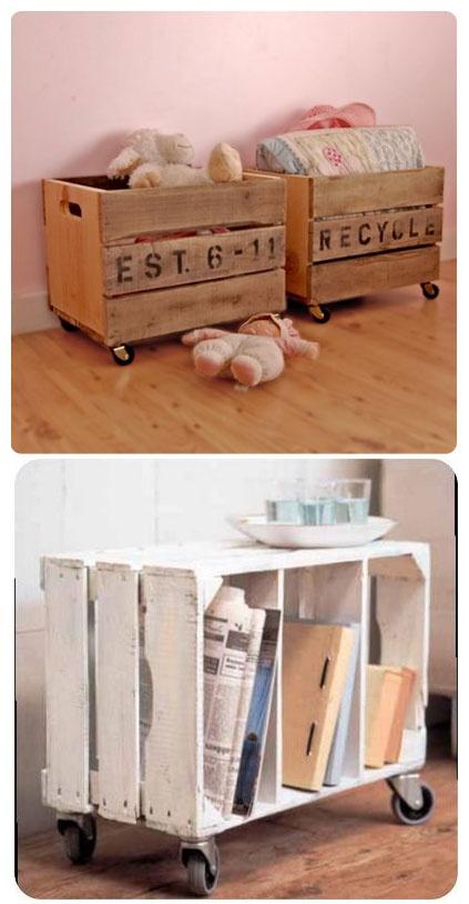 Recycler et détourner des cagettes