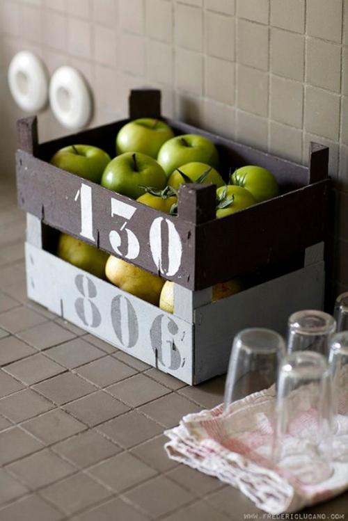 des cagettes dans toute la maison blog d co do it yourself organisation du quotidien. Black Bedroom Furniture Sets. Home Design Ideas