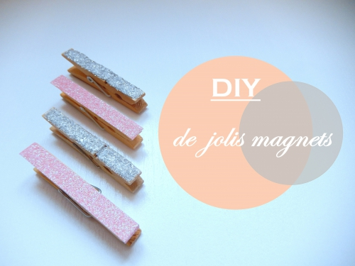 DIY de jolis magnets à paillettes