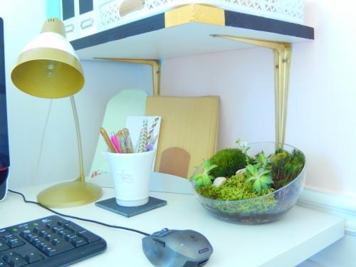 mon bureau des touches de doré