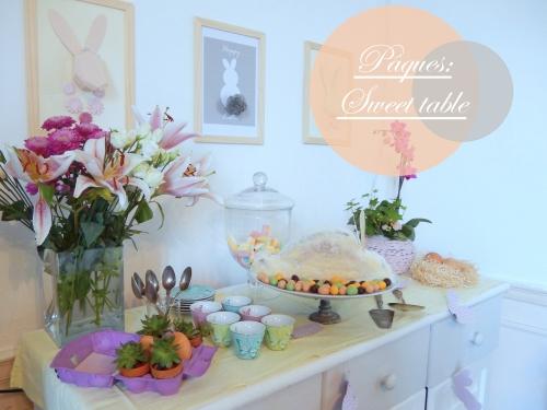 Ma Sweet table de pâques