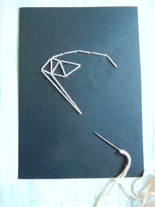 DIY broder le diamant