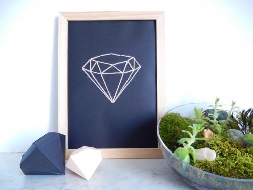 DIY une jolie affiche diamant brodée