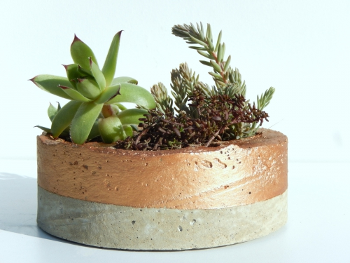DIY des pots déco en béton et cuivre 5
