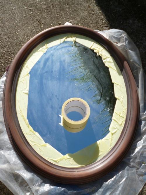 Diy customiser un miroir classique en miroir romantique - Customiser un bureau en bois ...