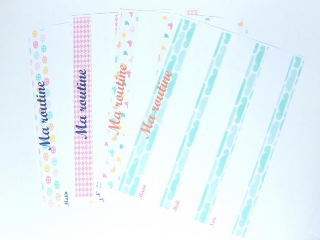 routine enfant free printable 1