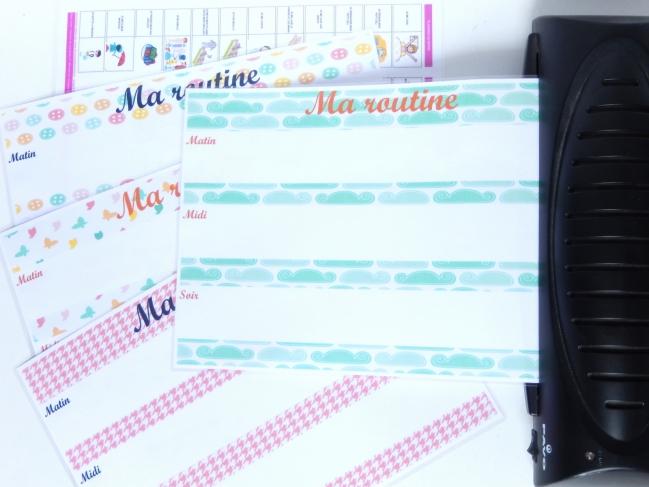 routine enfant free printable 2