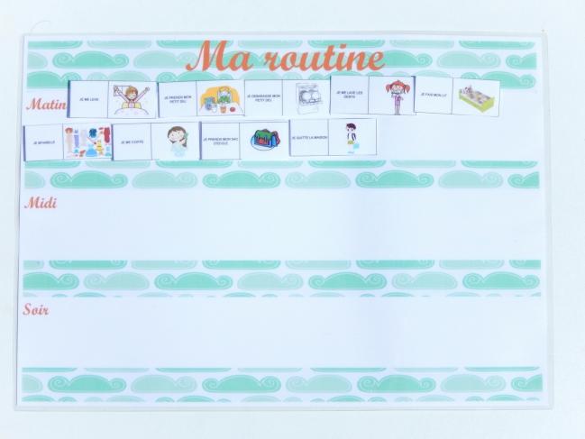 routine enfant free printable 5