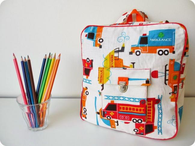 diy un sac à dos maternelle
