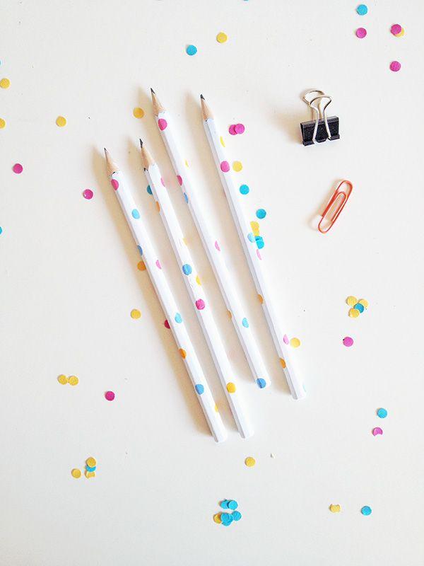 diy des crayons confettis