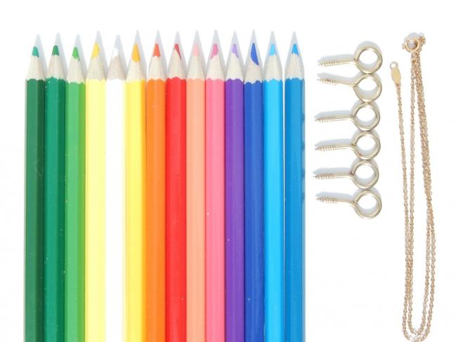 diy pendentif crayon