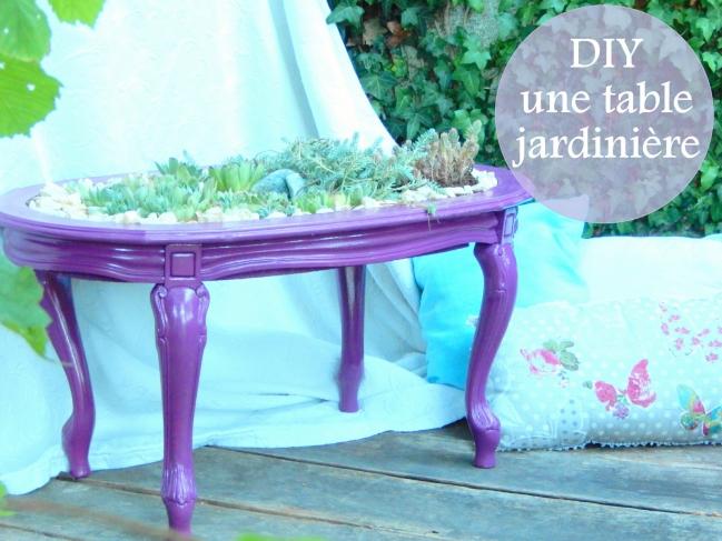 diy une table jardin