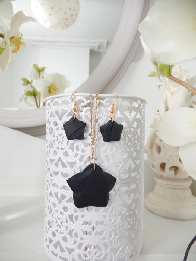 diy parure bijoux origami