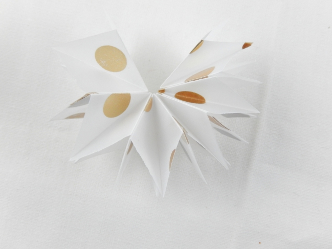diy une étoile en origami 6