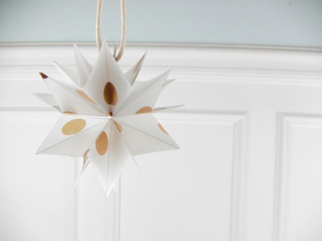diy une étoile en origami 8