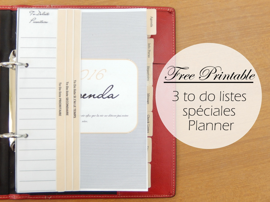 Free printable to do liste Planner