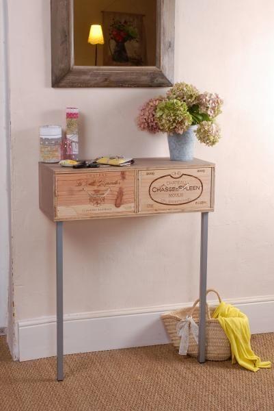 inspiration les caisses vin dans la d co mon carnet d co blog diy organisation du. Black Bedroom Furniture Sets. Home Design Ideas