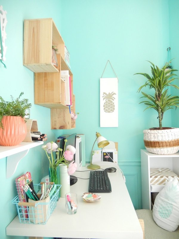 Mon bureau tropical diy