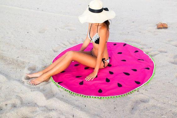 serviette de plage diy pastèque spring in fialta