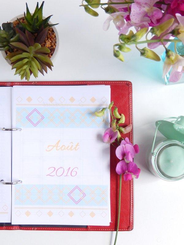 agenda 2016 / 2017 format a5 à imprimer gratuitement 2