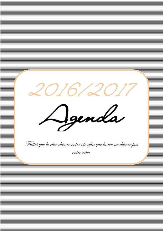 agenda 2016 / 2017 format a5 à imprimer gratuitement 7