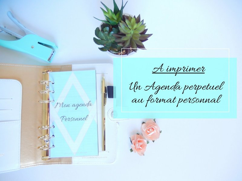 agenda personnal a imprimer