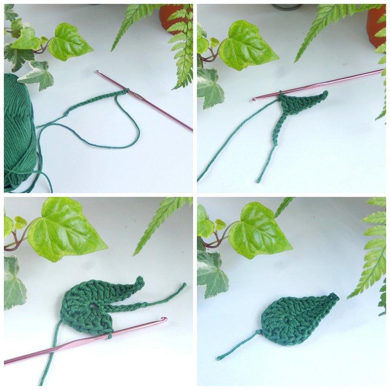 diy feuilles au crochet 1