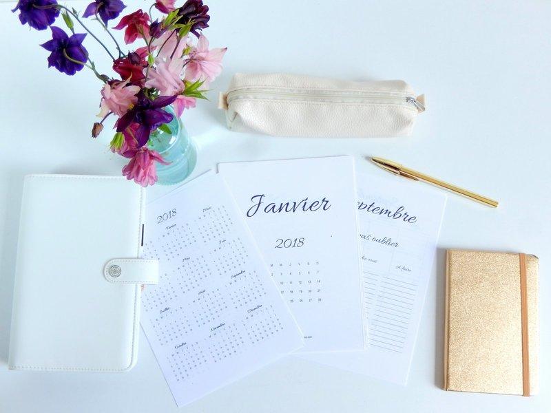 mi bullet journal mi planner l 39 agenda 2017 2018. Black Bedroom Furniture Sets. Home Design Ideas