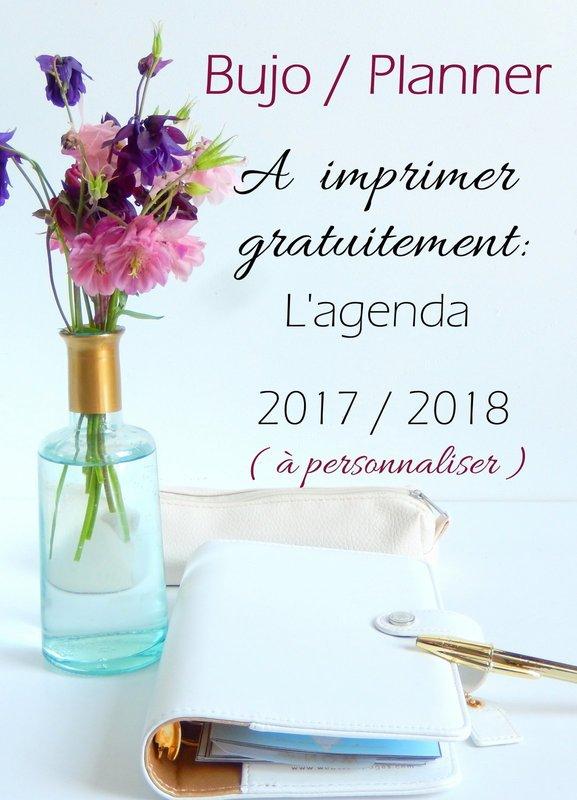 agenda planner bullet journal 2017 2018 a imprimer