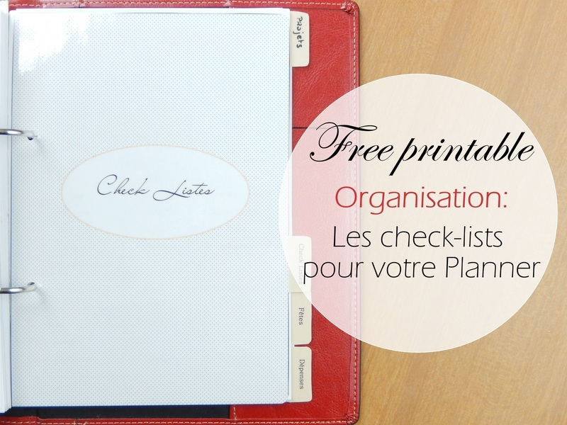 Free printable les check lists pour Planner