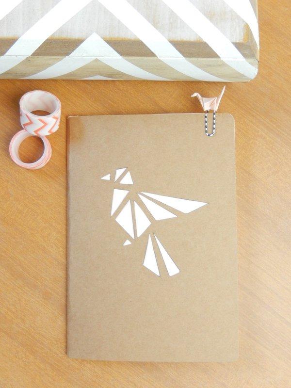 diy un carnet façon origami et son trombone assorti 1