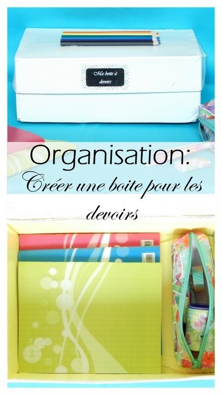 diy organisation creer une boite pour les devoirs