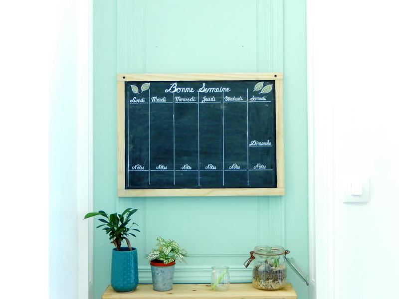 DIY organisation un semainier perpétuel et notre centre de commande familial simplifié 5