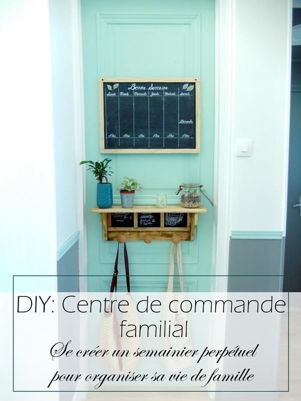 DIY organisation un semainier perpétuel et notre centre de commande familial simplifié 6