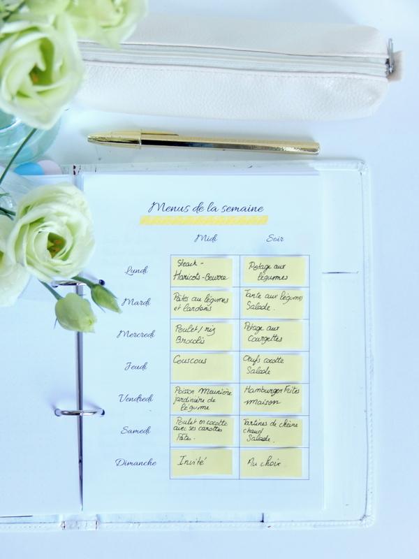 Pourquoi et comment prevoir ses menus a l avance + 2 fiches menus differentes a imprimer 2