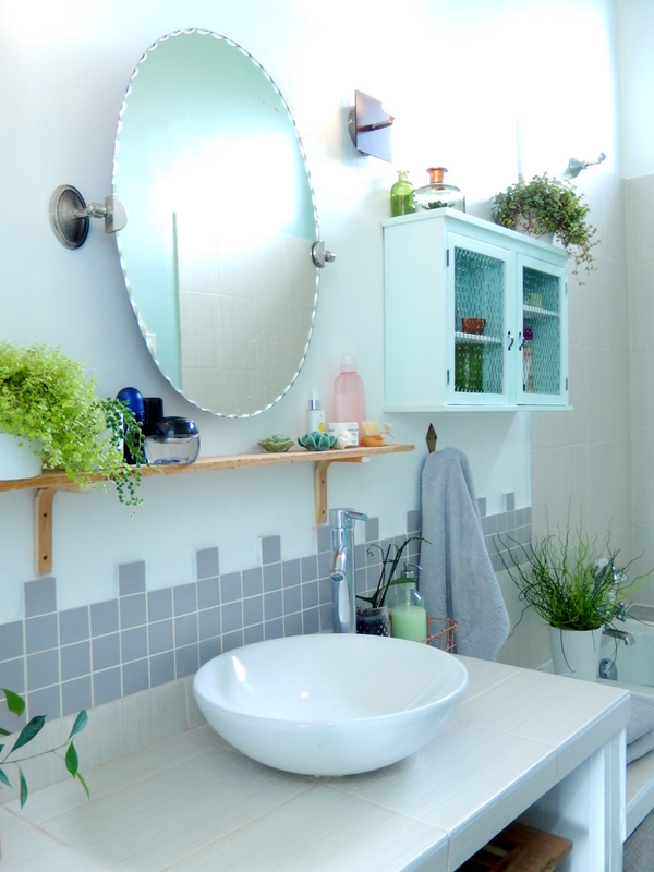 decorer une salle de bain vert mint