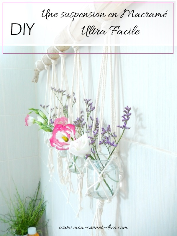diy suspension en macrame facile mon carnet deco