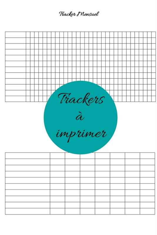 bullet journal trackers a imprimer