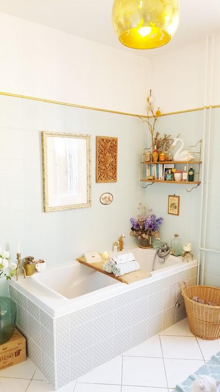decoration salle de bain bubble canelle