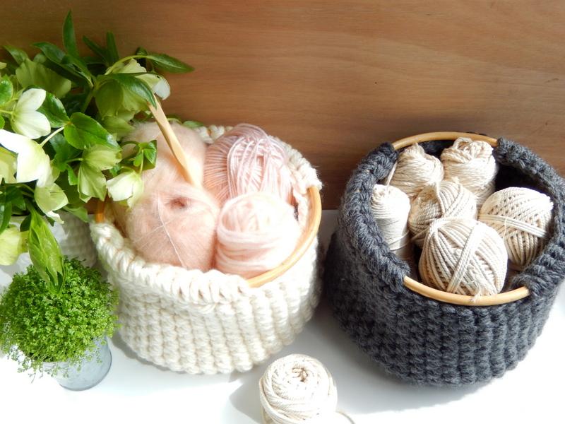 diy un panier style scandinave au crochet 1