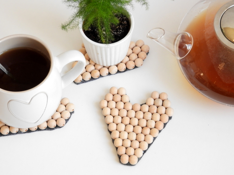 diy sous tasses perles en bois facile