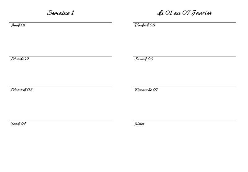 bullet journal 3 façons de personnamiser la page hebdomadaire 1