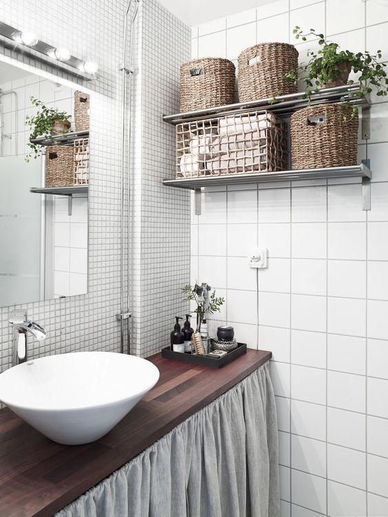 decorer et organiser une petite salle de bain 1