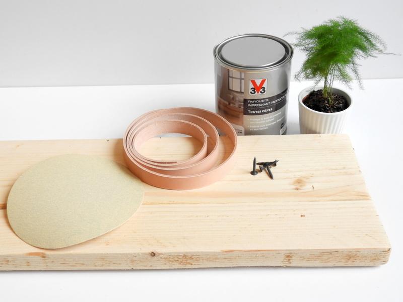 diy plateau de baignoire bois et cuir 1