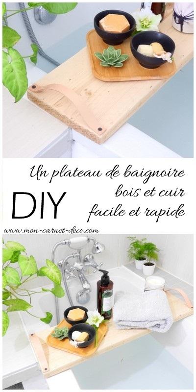 diy plateau de baignoire bois et cuir 6